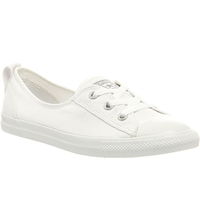 Converse Ctas Lace Up Ballet Flat Trainers White Mono