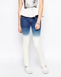 Rvca Bleach Washed Skinny Jean Blue