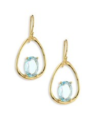 Ippolita Rock Candy Small Blue Topaz And 18K Yellow Gold Oval Earrings Gold Blue Topaz
