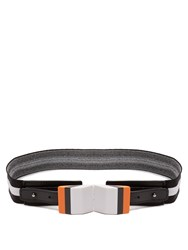 Missoni Striped Elasticated Knit Belt Black Multi