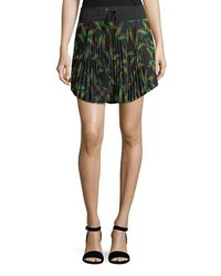 A.L.C. Scout Pleated Printed Mini Skirt Multi