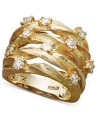 Effy Collection D'oro By Effy Diamond Woven Ring 1 Ct. T.W. In 14K Gold No Color