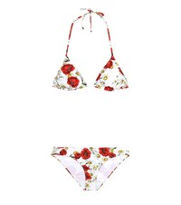 Dolce And Gabbana Printed Triangle Bikini Multicoloured