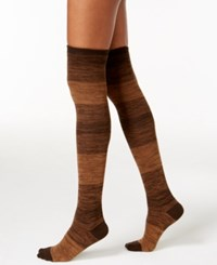 Hue Women's Ribbed Ombre Over The Knee Socks Espresso