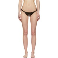 I.D. Sarrieri Black Ruffled Tulle Thong