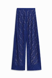 Missoni Chevron Lame Trouser Blue