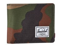 Herschel Hank Rfid Woodland Camo Tan Synthetic Leather Wallet Handbags Olive