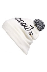 Capelli Of New York Women's Meow Pom Beanie