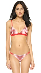Solid And Striped The Morgan Bikini Top Red And White Stripe