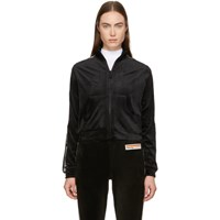 Opening Ceremony Black Velour Torch Track Jacket