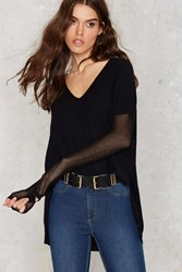 Nasty Gal Glamorous Piper Asymmetric Sweater Black