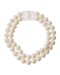 Patricia Von Musulin White Coral Bead Necklace