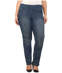Jag Jeans Plus Size Peri Pull On Straight Jeans In Blue Dive Blue Dive Women's Jeans