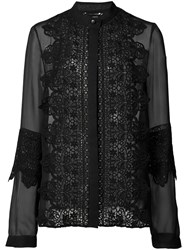 Sally Lapointe Sheer Shirt Black