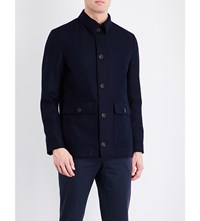 Gieves And Hawkes Flap Pocket Pure Wool Jacket Navy