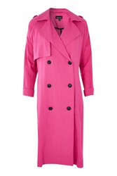 Topshop Washed Trench Coat Pink