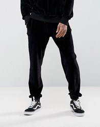 Antioch Tapered Velour Joggers Black