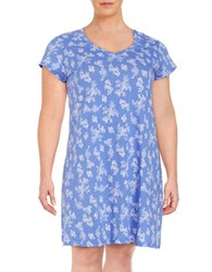 Lord And Taylor Plus Printed Nightgown Persian Jewel