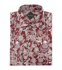Billionaire Regular Fit Floral Shirt Male Red