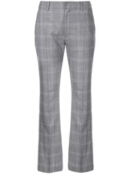 Adeam Check Creased Trousers Grey