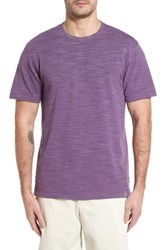 Thaddeus 'S Paxton Space Dye Pique T Shirt Purple