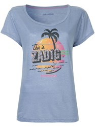 Zadig And Voltaire Printed T Shirt Purple