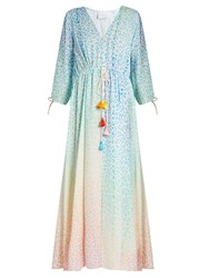 Athena Procopiou The Rainbow In The Sky Maxi Dress Multi