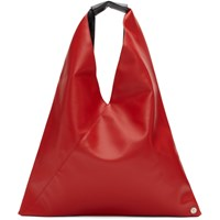 Maison Martin Margiela Mm6 Red Small Faux Leather Tote