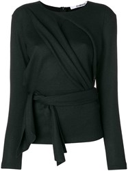 Chalayan Draped Front Belted Top Black
