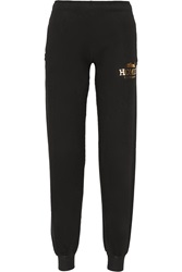 Brian Lichtenberg Homies Foiled Cotton Jersey Track Pants Black
