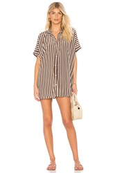 Acacia Swimwear Mombasa Shirt Dress Brown