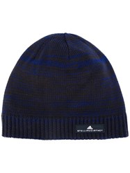a35e939f Adidas By Stella Mccartney Knitted Beanie Hat Women Cotton One Size Blue