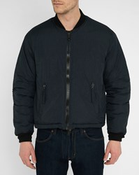 Our Legacy Navy Puffed Nylon Bomber Jacket Blue