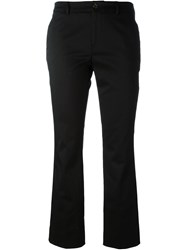 Pt01 Flared Cropped Trousers Black