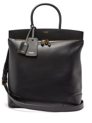 Burberry Portrait Society Large Leather Tote Bag Black
