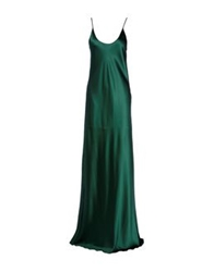 Ermanno Scervino Long Dresses Dark Green