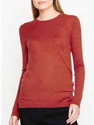 Whistles Annie Sparkle Knitted Top Orange