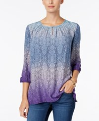 Charter Club Paisley Ombre Tunic Only At Macy's English Plumb Combo
