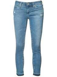 Ag Jeans Cropped Skinny Blue