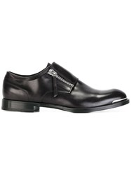 Alexander Mcqueen Zipped Monk Shoes Black