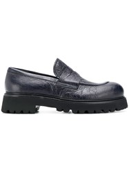 Rocco P. Ridged Loafers Blue