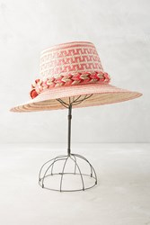 Anthropologie Market Pom Floppy Hat Pink