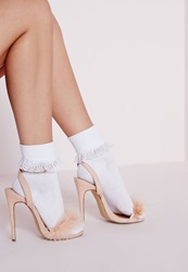 Missguided Ankle Socks Lace Trim White White