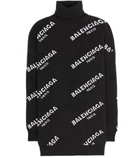Balenciaga Wool Turtleneck Sweater Black