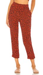 Beach Riot X Revolve Avery Pant In Red. Red Leopard