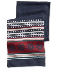 Club Room Men's Fair Isle Scarf Only At Macy's Navy