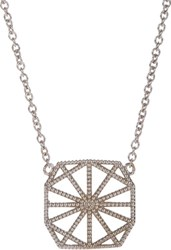 Grace Lee Women's White Gold Petite Deco Ii Necklace Colorless