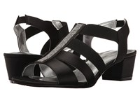 David Tate Eve Black Satin Women's Dress Sandals