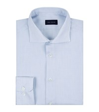 Pal Zileri Mini Woven Blue Dash Shirt Male Light Blue