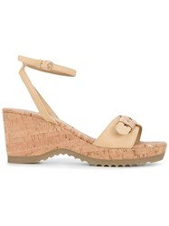 Stella Mccartney 'Linda' Wedge Sandals Brown